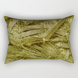 Golden fibers Rectangular Pillow