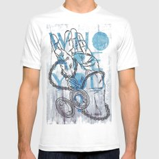 Something not to forget. MEDIUM Mens Fitted Tee White