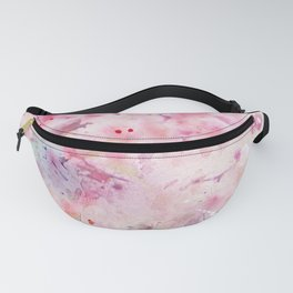 Pink Watercolor Floral Fanny Pack