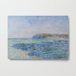Shadows on the Sea at Pourville by Claude Monet Metal Print