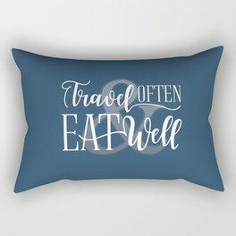 Travel Often & Eat Well Rectangular Pillow