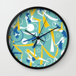 Circus dancers Wall Clock