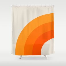 Creamsicle Bow Shower Curtain