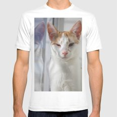 Wink White MEDIUM Mens Fitted Tee