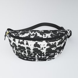 Black & White Discharged Fabric Pattern Fanny Pack