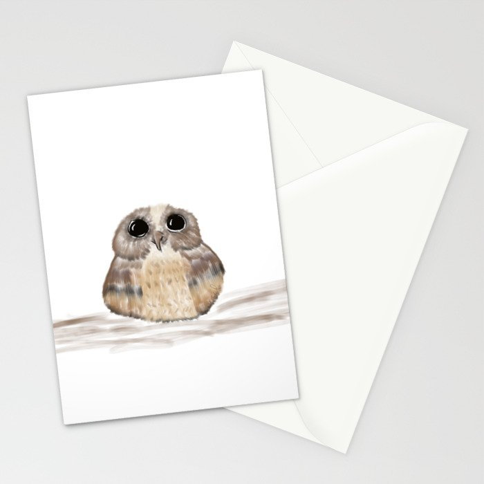 Sweet owl Stationery Cards