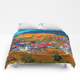 A villages sees red Comforters