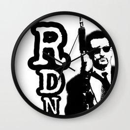 Robert De Niro holding gun mafia gangster movie Heat Wall Clock