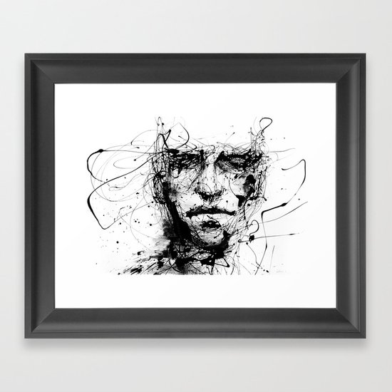 lines hold the memories Framed Art Print