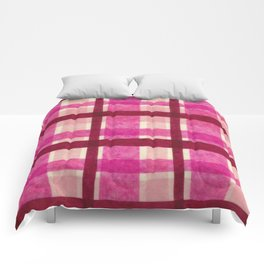 Tissue Paper Plaid - Pink Comforters