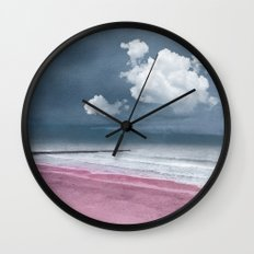 LONELY BEACH Wall Clock