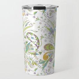 Whimsical Paisley Iris Travel Mug