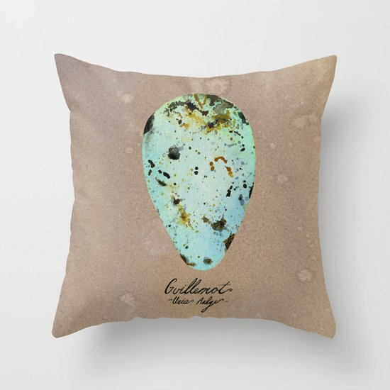 GUILLEMOT EGG Throw Pillow
