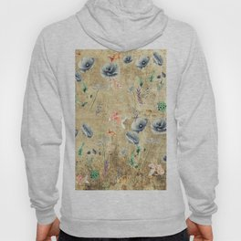 Fishes & Garden #Gold-plated Hoody