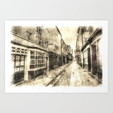 The Shambles York Vintage Art Print