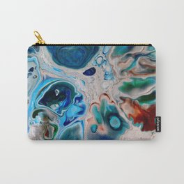 In Too Deep  - Unique Blue Fluid Abstract Painting Carry-All Pouch