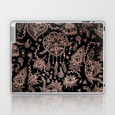 Chic dreamcatcher rose gold black illustration Laptop & iPad Skin