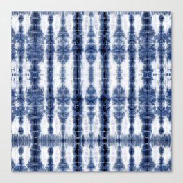 Tiki Shibori Blue Canvas Print