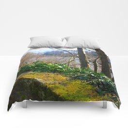Walk on the River Bank Comforters