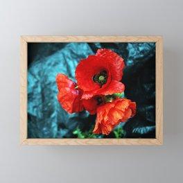 Poppy flower bouquet Framed Mini Art Print