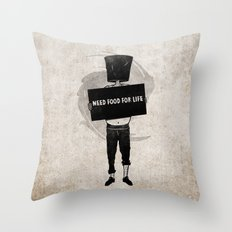 Need Food For Life Throw Pillow