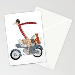 little biker buddies Stationery Cards