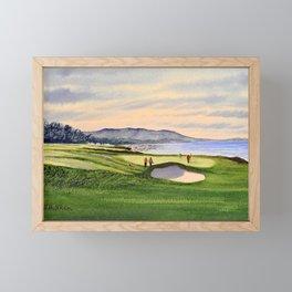 Pebble Beach Golf Course 9th Green Framed Mini Art Print