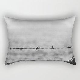 Metal and Wood. Rectangular Pillow