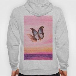 L'amour vogue avec le papillon Hoody