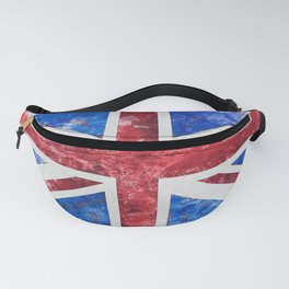 Union Jack Great Britain Flag Grunge Fanny Pack