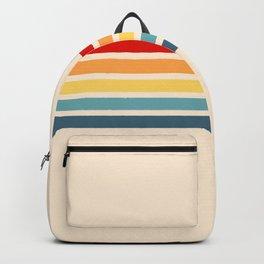Takaakira - Classic Rainbow Retro Stripes Backpack