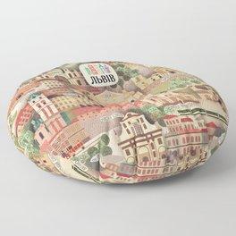 Lviv. Open for the World. Floor Pillow