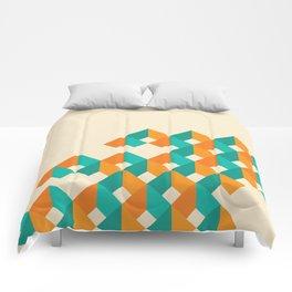 Pattern - Cube - Geen / Orange Comforters