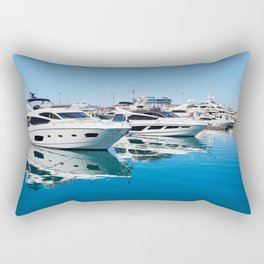 Sea Yacht Club in sunny day Rectangular Pillow