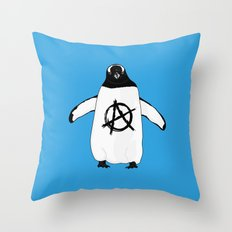 Anarchy in the Antarctic Throw Pillow