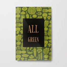 Talkers #1 All Green Metal Print