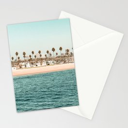 Vintage Newport Beach Print {1 of 4}   Photography Ocean Palm Trees Teal Tropical Summer Sky Stationery Cards