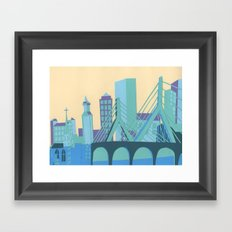 Zakim Bridge Framed Art Print