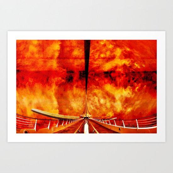 Calatrava Burning Art Print