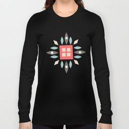 Custom Beautiful Multicolor Hanukkah Holiday Pattern Long Sleeve T-shirt