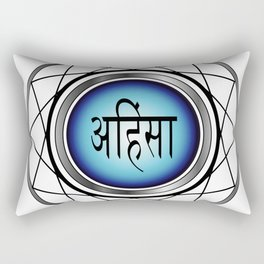 AHIMSA- non violence- typography in hindi means peace in Hindu,Buddhist and Jain Rectangular Pillow