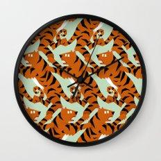 Tiger Conga pattern Wall Clock