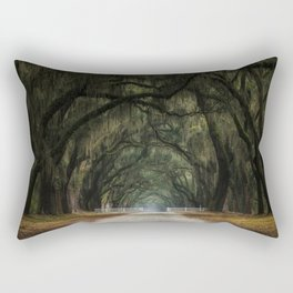 gate at the end of the tunnel Rectangular Pillow