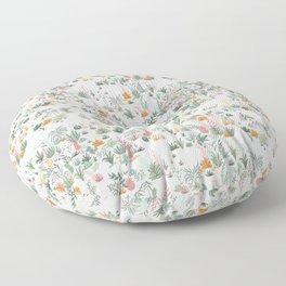 Desert Garden, White Floor Pillow