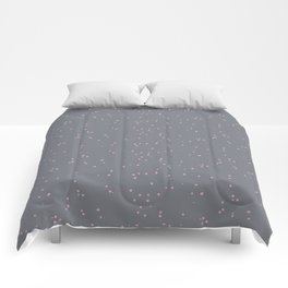 Gray Light Pink Shambolic Bubbles Comforters