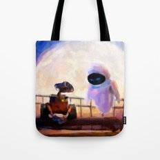 Wall-E & Eve - Painting Style Tote Bag