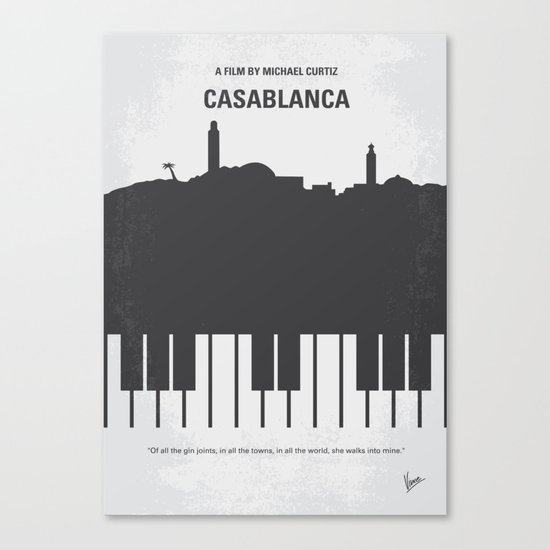 No192 My Casablanca minimal movie poster Canvas Print
