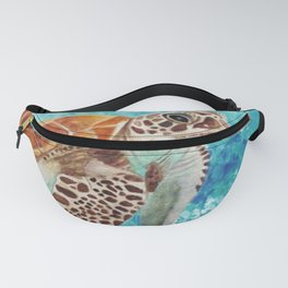 Turtle Swimming Fanny Pack