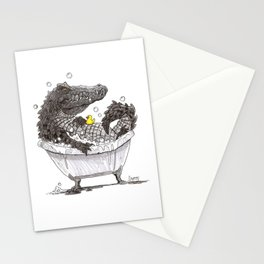 Bubble Bath (Pen & Ink) Stationery Cards