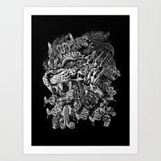 Jaguar Warrior Art Print